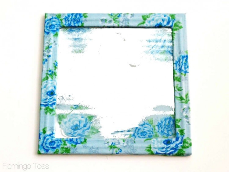 Floral Mod Podged Mirror