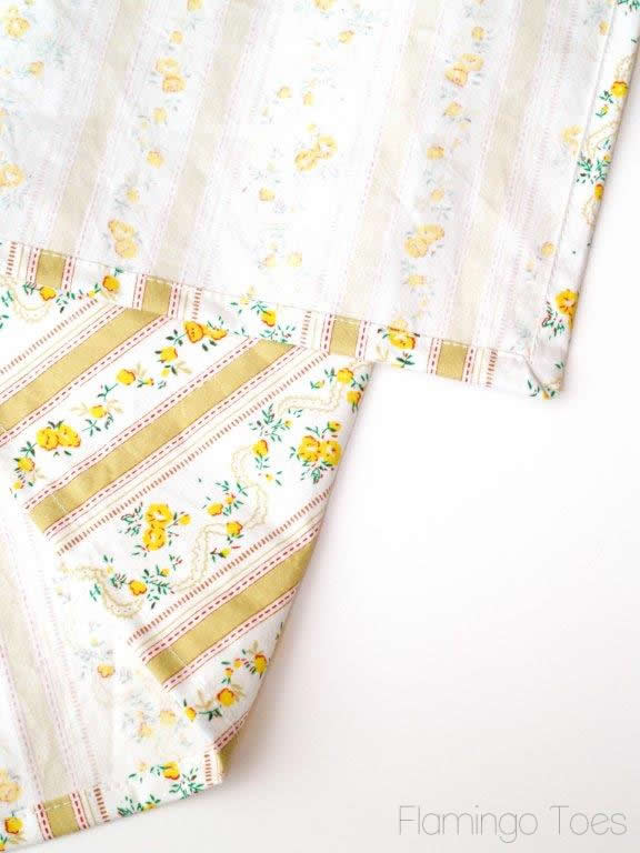 Hem a pretty dishtowel