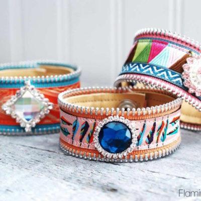 Pretty Ribbon and Leather Bracelets
