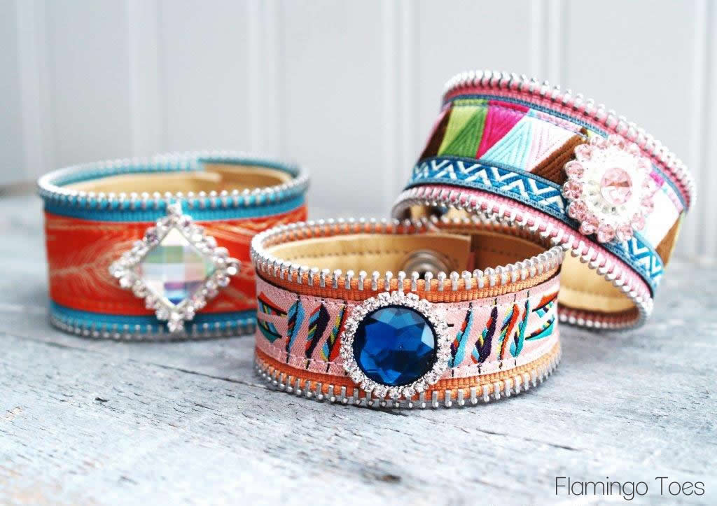 Pretty Ribbon and Leather Bracelets