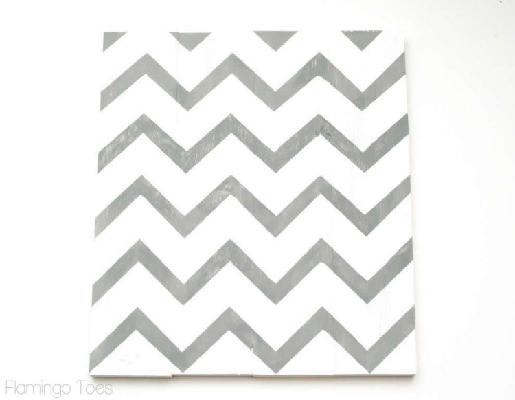 Painted Chevron DIY