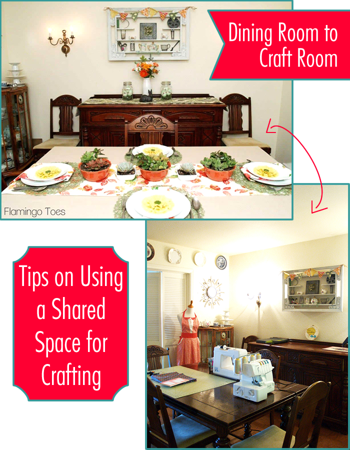 My Studio – Tips on Using a Shared Space for Crafting