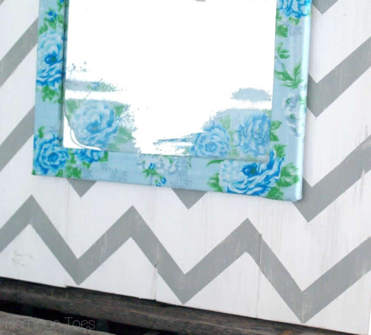 Vintage Mirror and Chevron Artwork
