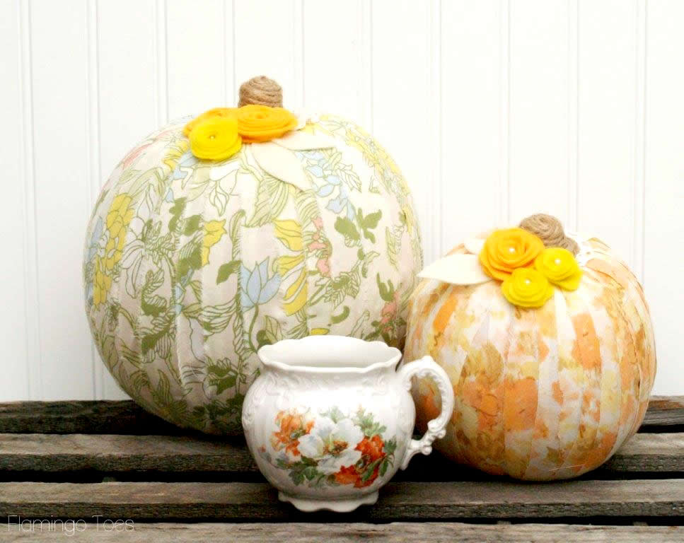 fabric wrapped pumpkin tutorial