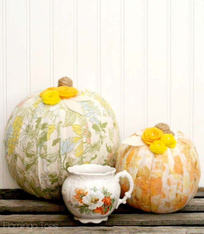 vintage sheet wrapped pumpkins