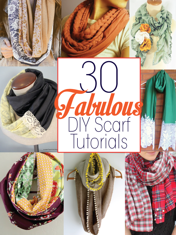 DIY Scarf tutorials featured by top US sewing blog, Flamingo Toes