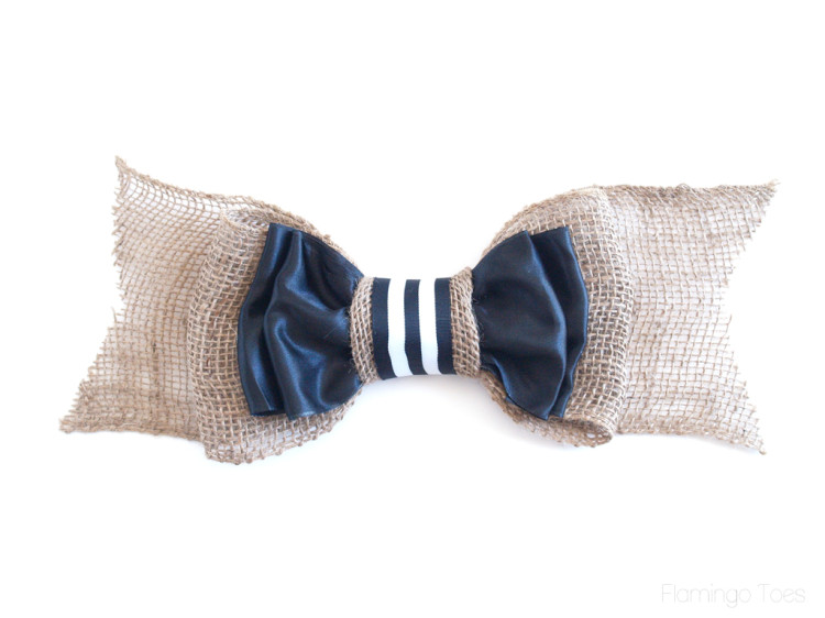 Burlap and Ribbon Bow