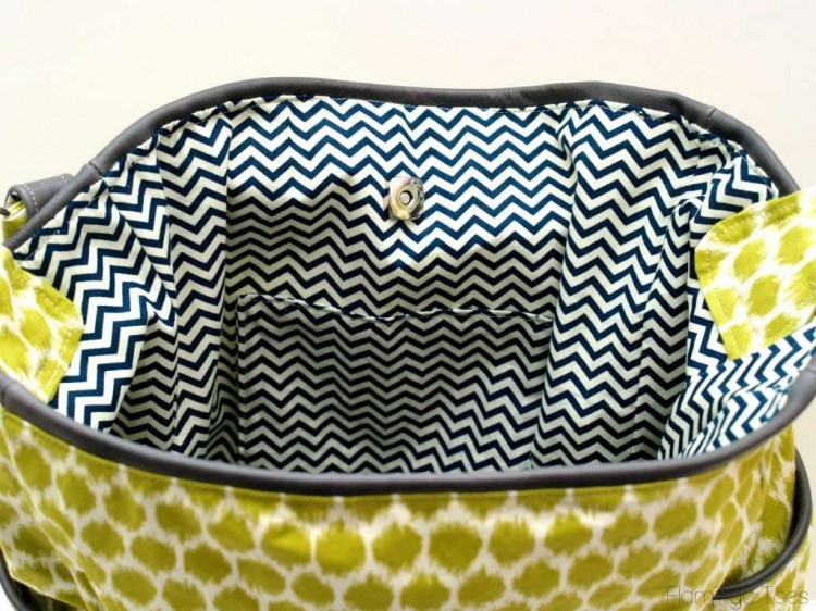 Chevron Purse Insterior