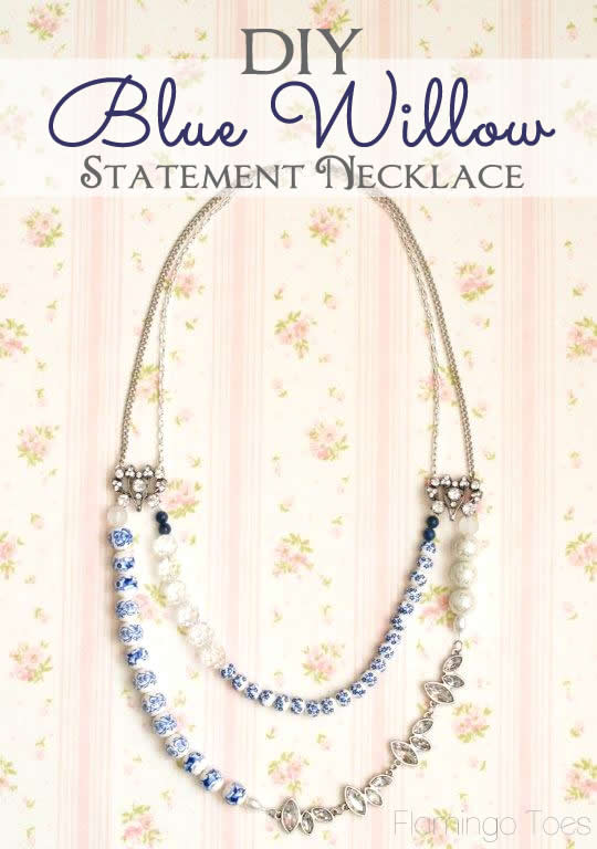 DIY Blue Willow Necklace Tutorial