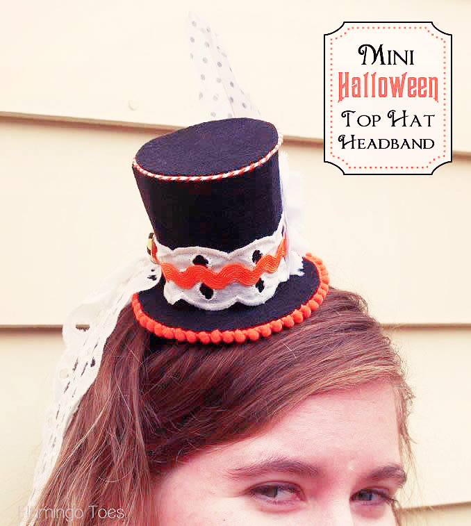 Halloween Mini  Top Hat Headband