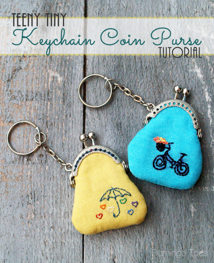 Tiny Keychain Coin Purse Tutorial