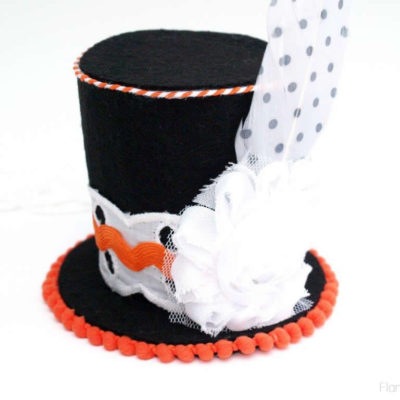 Mini Halloween Top Hat Headband