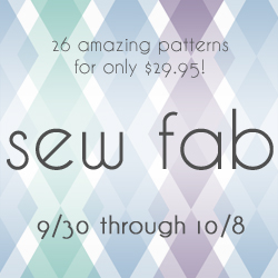 Sew Fab Pattern Sale and Giveaway