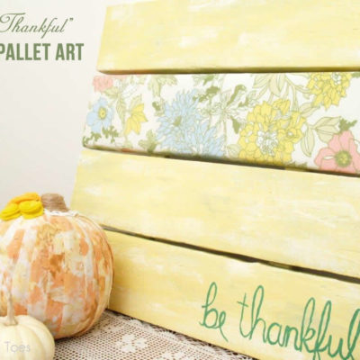 Be Thankful Faux Pallet Art