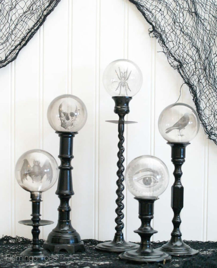 Crystal Ball Candlesticks
