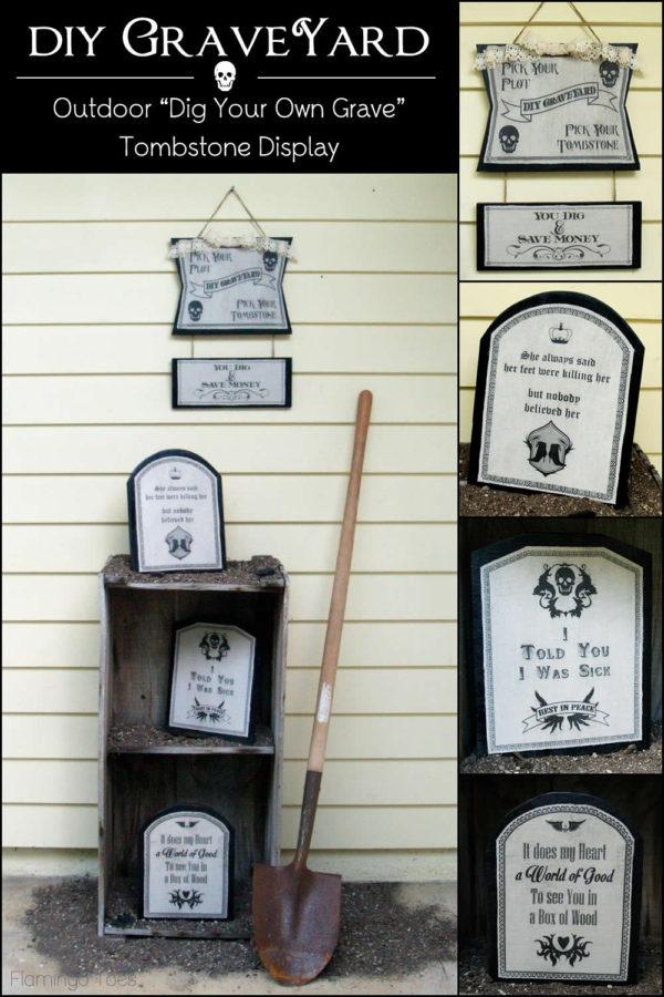 DIY Graveyard Outdoor Decorations