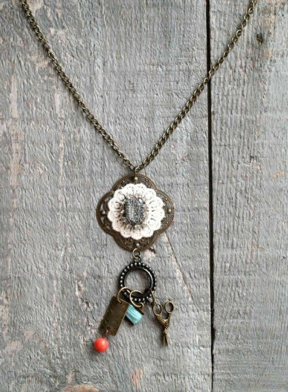 DIY Sewing Charm Necklace