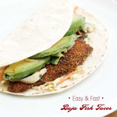 Yummy and Fast Baja Fish Tacos