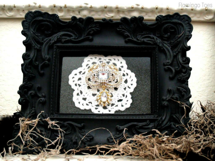 Framed Halloween Brooch