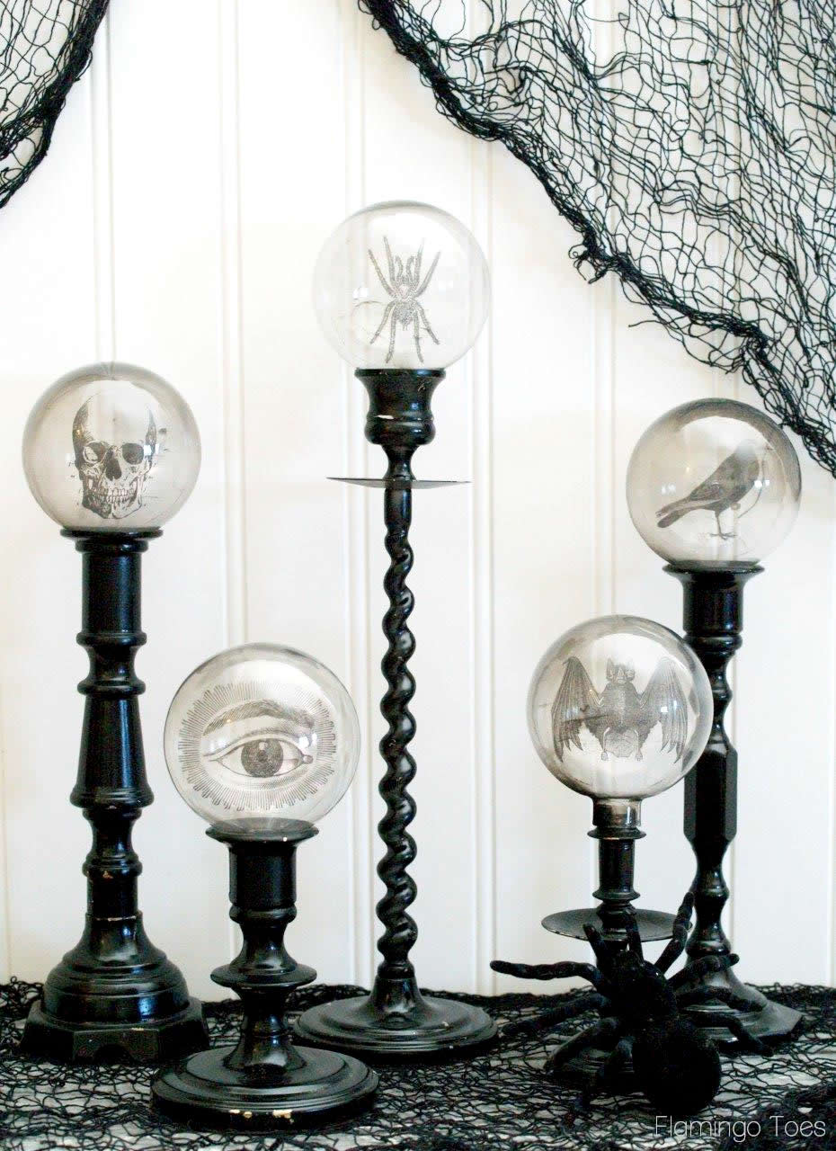 Halloween Crystal Ball Candlesticks