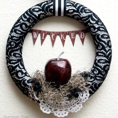 Wicked Halloween Wreath & Entryway Display