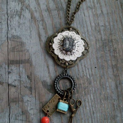 Simple DIY Charm Necklace