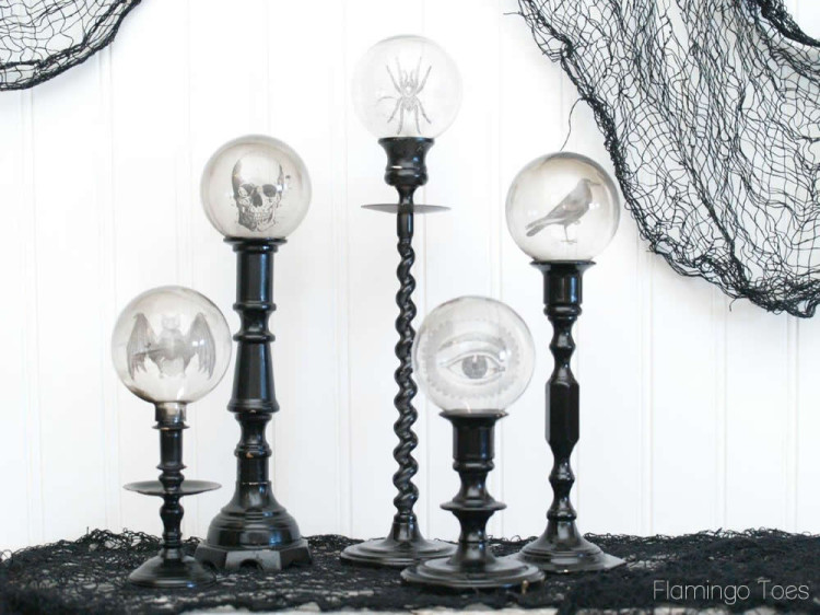 Spooky Candlestick Display