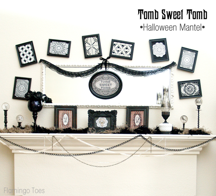 Tomb Sweet Tomb Halloween Mantel