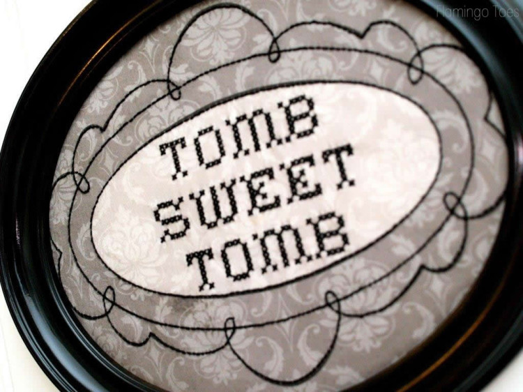 Tomb Sweet Tomb Stitching