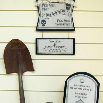 DIY Graveyard Outdoor Tombstone Display