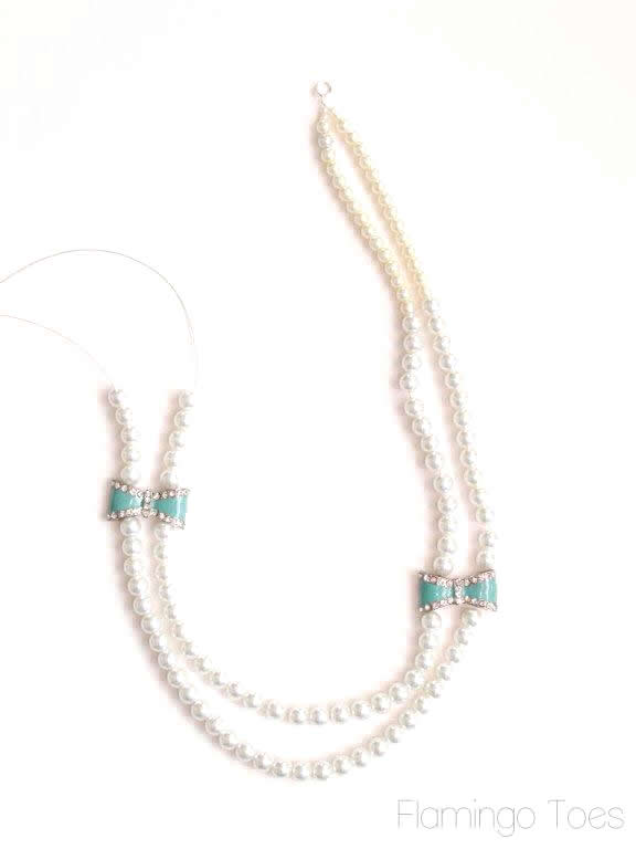 adding pearls to necklace