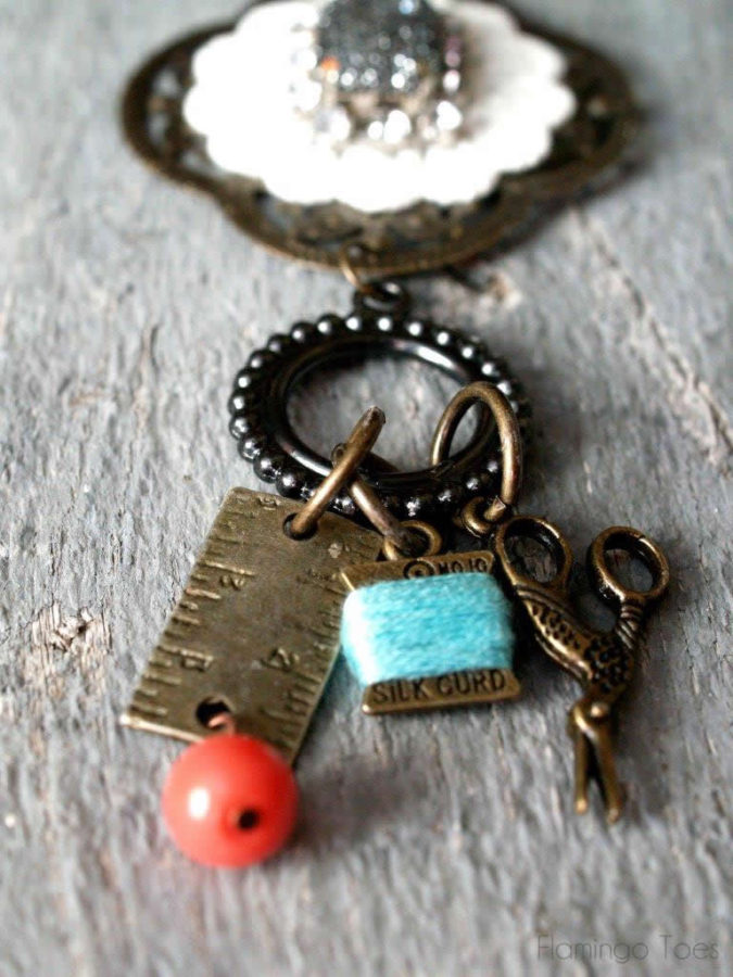 charm necklace DIY