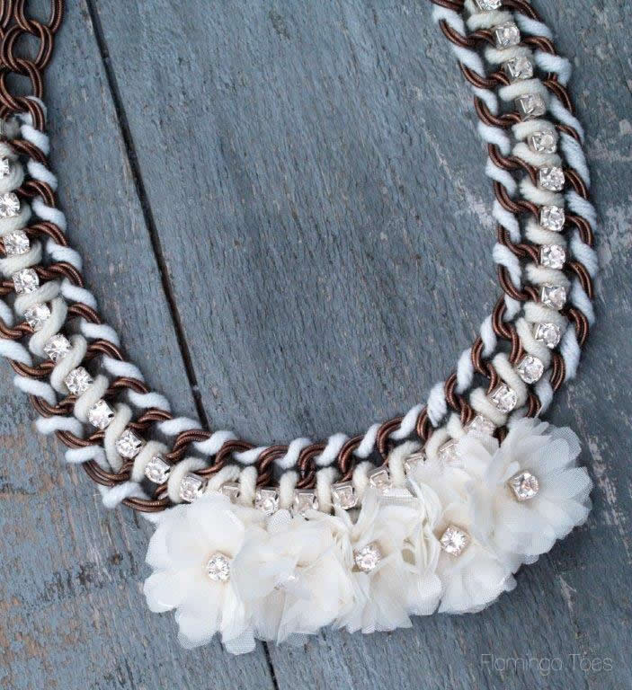 Anthropologie Guirlande Bib Necklace Knockoff