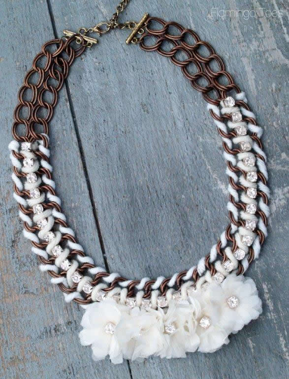 Anthro Guirlande Bib Necklace
