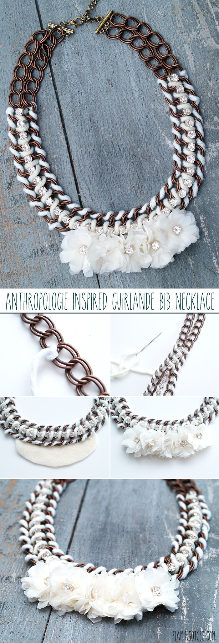 Anthro Inspired Guirlande Bib Necklace