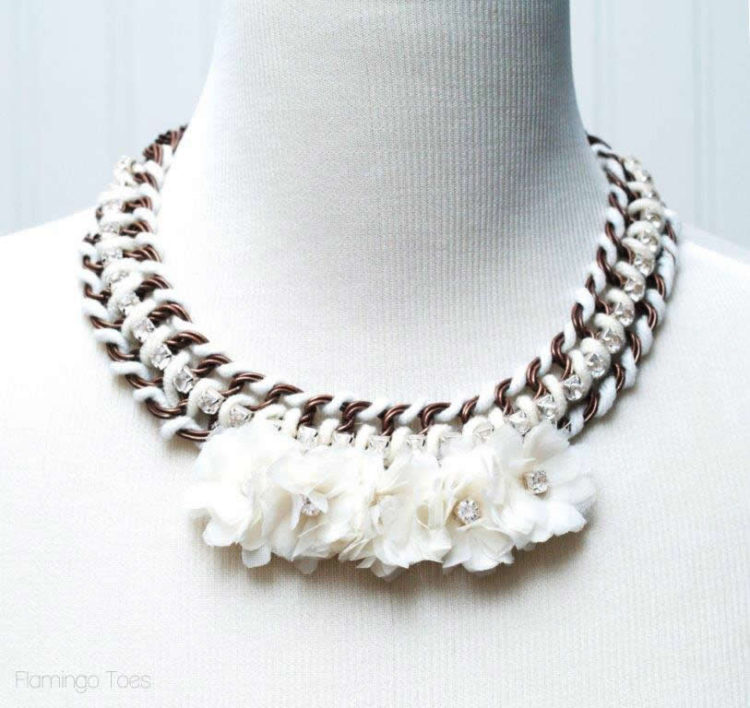 Anthropologie Guirlande Bib Necklace
