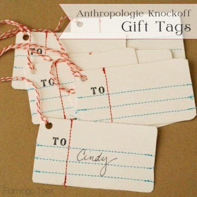 Anthro Penmanship Gift Tags
