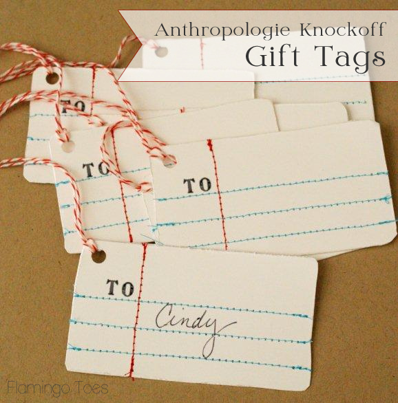 Anthropologie Knockoff Gift Tags
