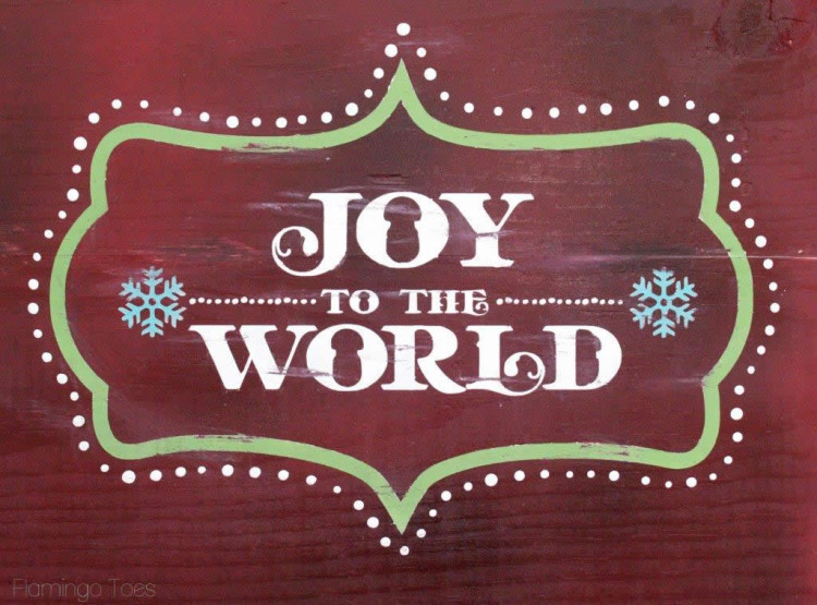 Joy to the World Painted Sign