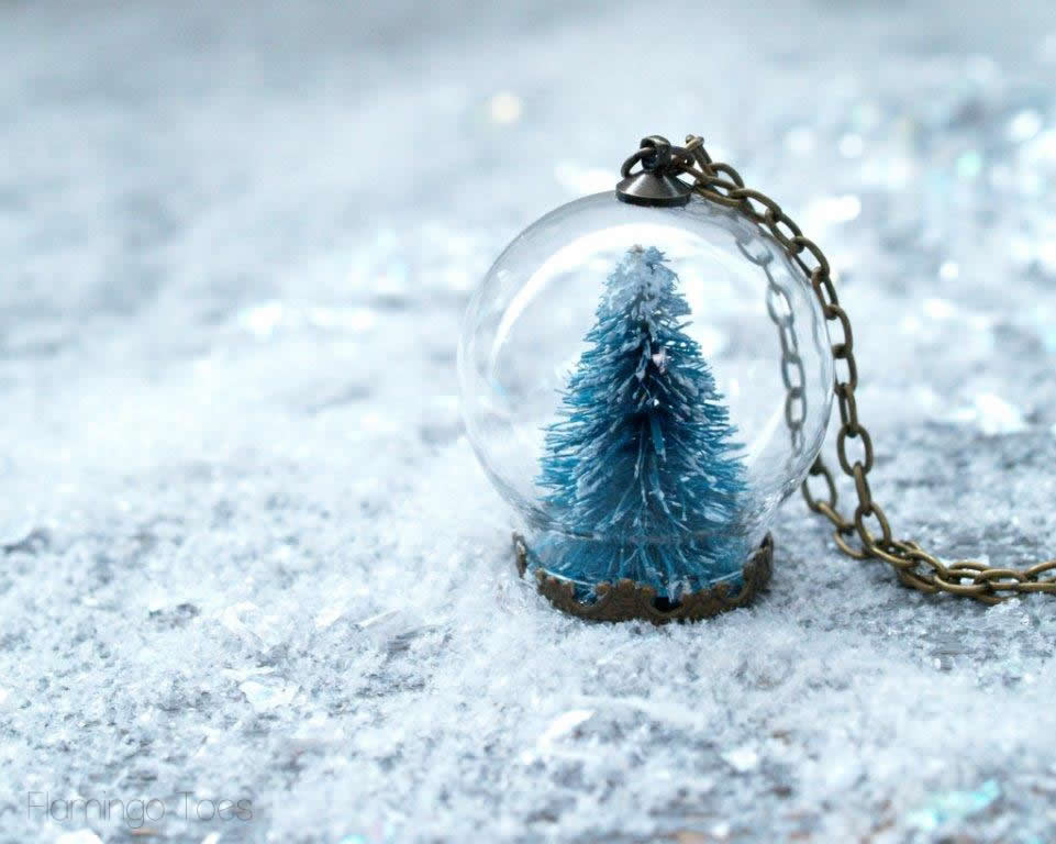 Winter Wonderland Snow Globe Necklace