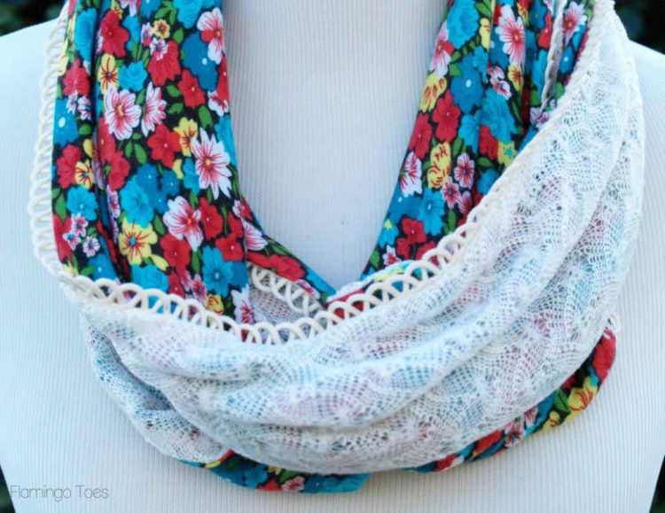 Caroline Hulse Blog Floral And Lace Scarf Tutorial