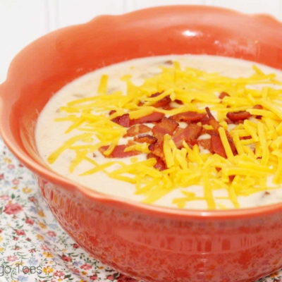 Loaded Baked Potato & Ham Soup
