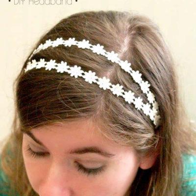 Super Simple Lace DIY Headbands