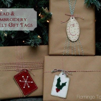 Bead & Embroidery Felt Gift Tags