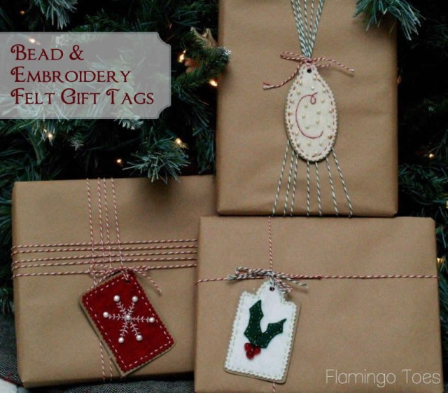 Bead & Embroidery Felt Gift Tags