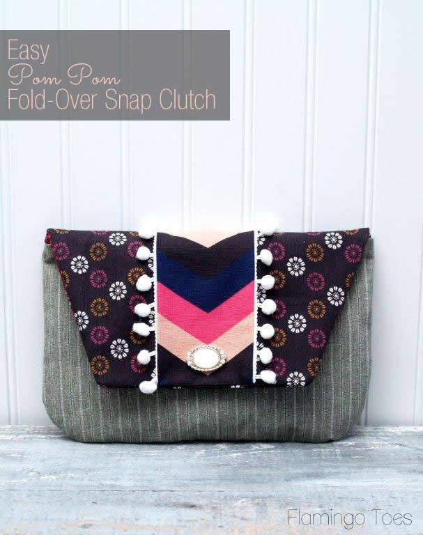 Easy Fold Over Snap Clutch Pattern