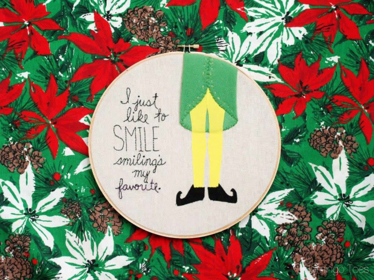 Elf Embroidery Hoop