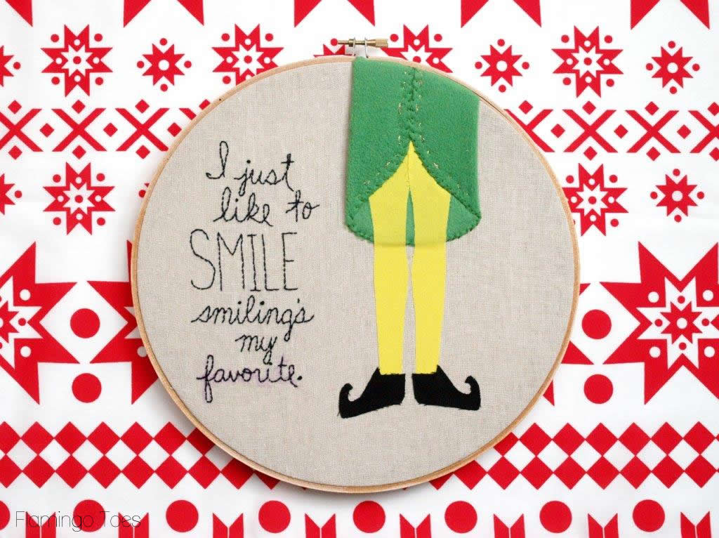 """Elf"" Inspired Hoop Art"