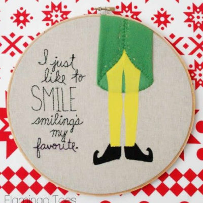 Smiling's My Favorite – Embroidery Hoop Art