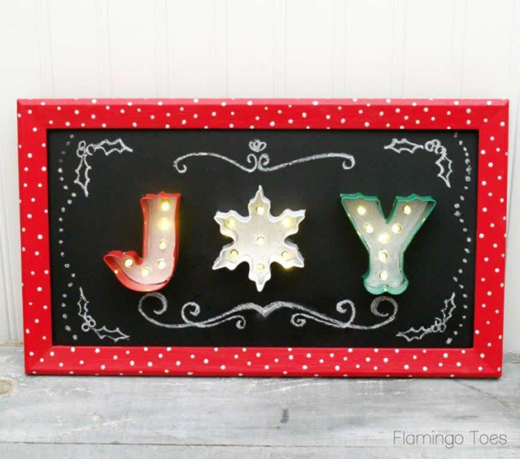 Joy Chalkboard Marquee Sign